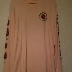 Hollister Pink Long Sleeve Shirt